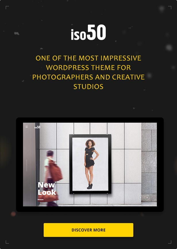 Iso50 - Photography WordPress Theme concepts