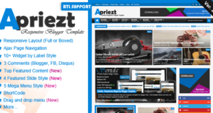 Apriezt - Responsive Magazine/News Blogger Theme Free Download