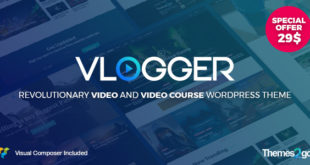 Vlogger-v1.4.1-Professional-Video-Tutorials-WordPress-Theme