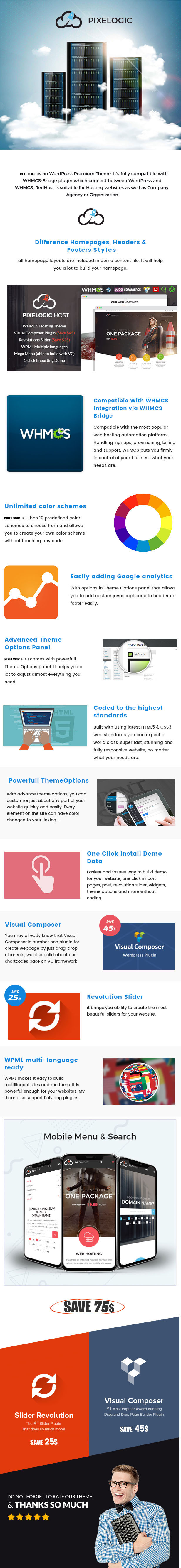 Pixelogic - WHMCS Hosting, Shop & Corporate Theme Free Download