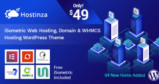 Hostinza-v1.0.5-Isometric-Domain-Whmcs-Web-Hosting