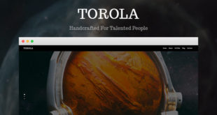 Torola Modern Photography Theme Free Download