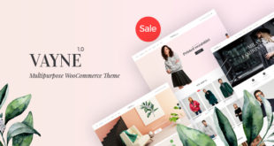 Vayne-v1.0.3-Multipurpose-WooCommerce-Theme